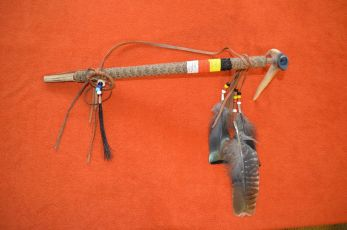 Coyote fur Peace pipe
